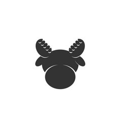 Cute head moose deer logo designs inspiration vector