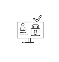 Cyber security website icon isolated vector