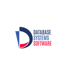 database systems software sign vector image