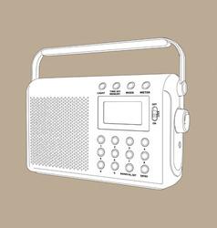 digital radio vector image