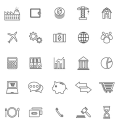 Economy line icons on white background vector