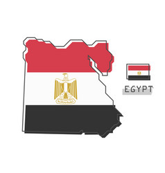 egypt map and flag modern simple line cartoon vector image