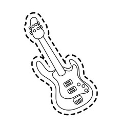 electric guitar icon image vector image