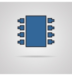 Electronic chip Single flat color icon vector image