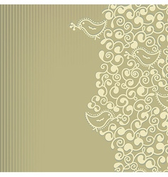 Floral wedding or birthday invitation vector image
