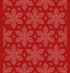 Flourish snowflakes seamless pattern vector