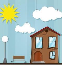 Funny house cartoon vector