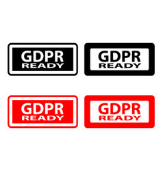 Gdpr ready - rubber stamp vector