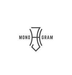 Geometric monogram hj vector