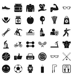 Gymnastics icons set simple style vector