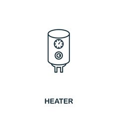 heater icon thin style design from household vector image