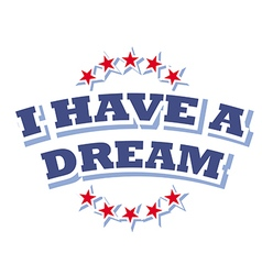 I have a dream logo symbol isolated vector image