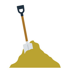 icon of construction shovel and sand vector image