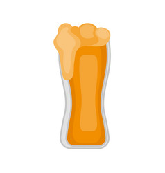 isolated beer glass icon vector image