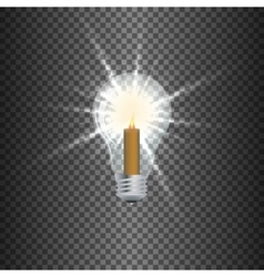 lamp a candle vector image