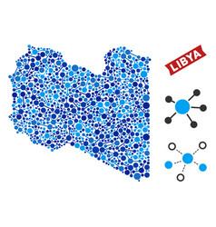 Libya map links mosaic vector
