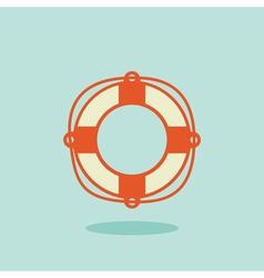 Life buoy icon vector