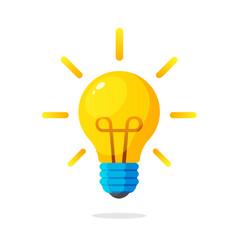 Light bulb with rays shine vector