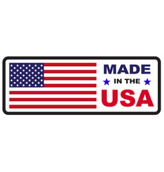 Made in usa flag icon vector