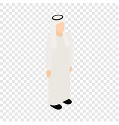 male arab isometric icon vector image