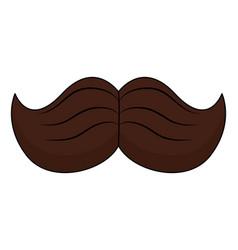 male mustache symbol vector image