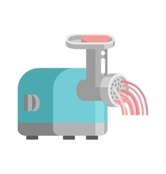 Meat grinder front view vector