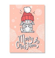 merry christmas funny postcard vector image