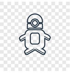 Minion concept linear icon isolated on vector