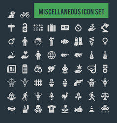 Miscellaneous icon set vector