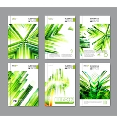 Modern green brochure design vector