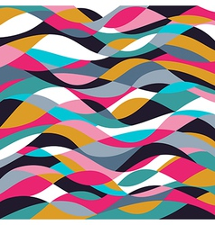 Mosaic abstract wave background Colorful abstract vector image