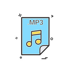mp3 application download file files format icon vector image