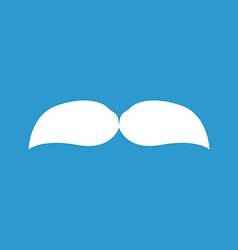 Mustache icon white on the blue background vector