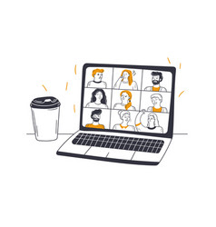 online meeting video conference business vector image