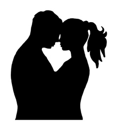Pair Kiss Isolated on white background vector image