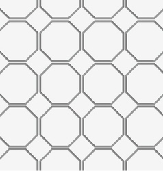 Perforated octagons in row vector image