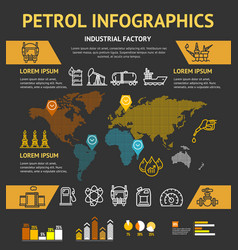 Petrol oil industry business infographic concept vector