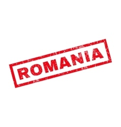 Romania Rubber Stamp vector