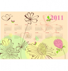 romantic calendar for 2011 vector image vector image
