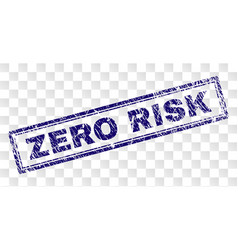 Scratched zero risk rectangle stamp vector
