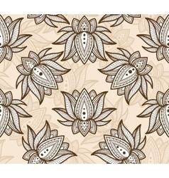 Seamless pattern lotus vector