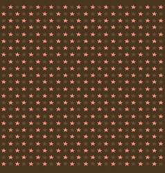 Seamless pattern with pink stars on brown vector