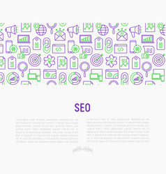 seo and development concept vector image