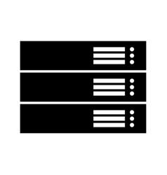 server black color icon vector image