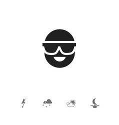 Set of 5 editable air icons includes symbols such vector