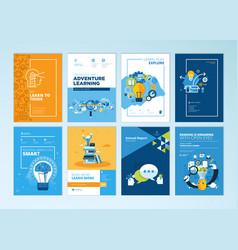 set of brochure design templates of education vector image