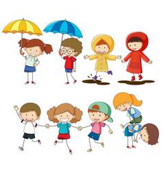 Set of children activity vector