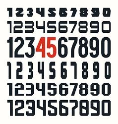 Set of sport numbers vector