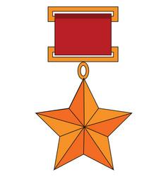 soviet union star on white background vector image