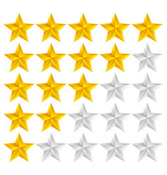 Star rating template with 3d stars vector